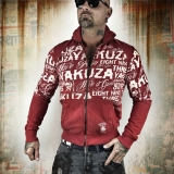 Yakuza mikina ZB 10032 Ribbon Red - 4XL