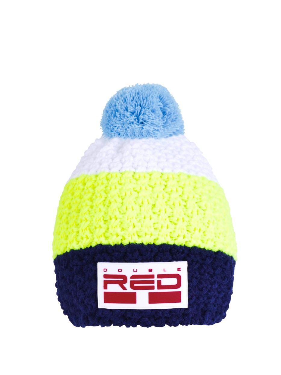 Double Red kulich COURCHEVEL Cap Dark Blue/Yellow/White
