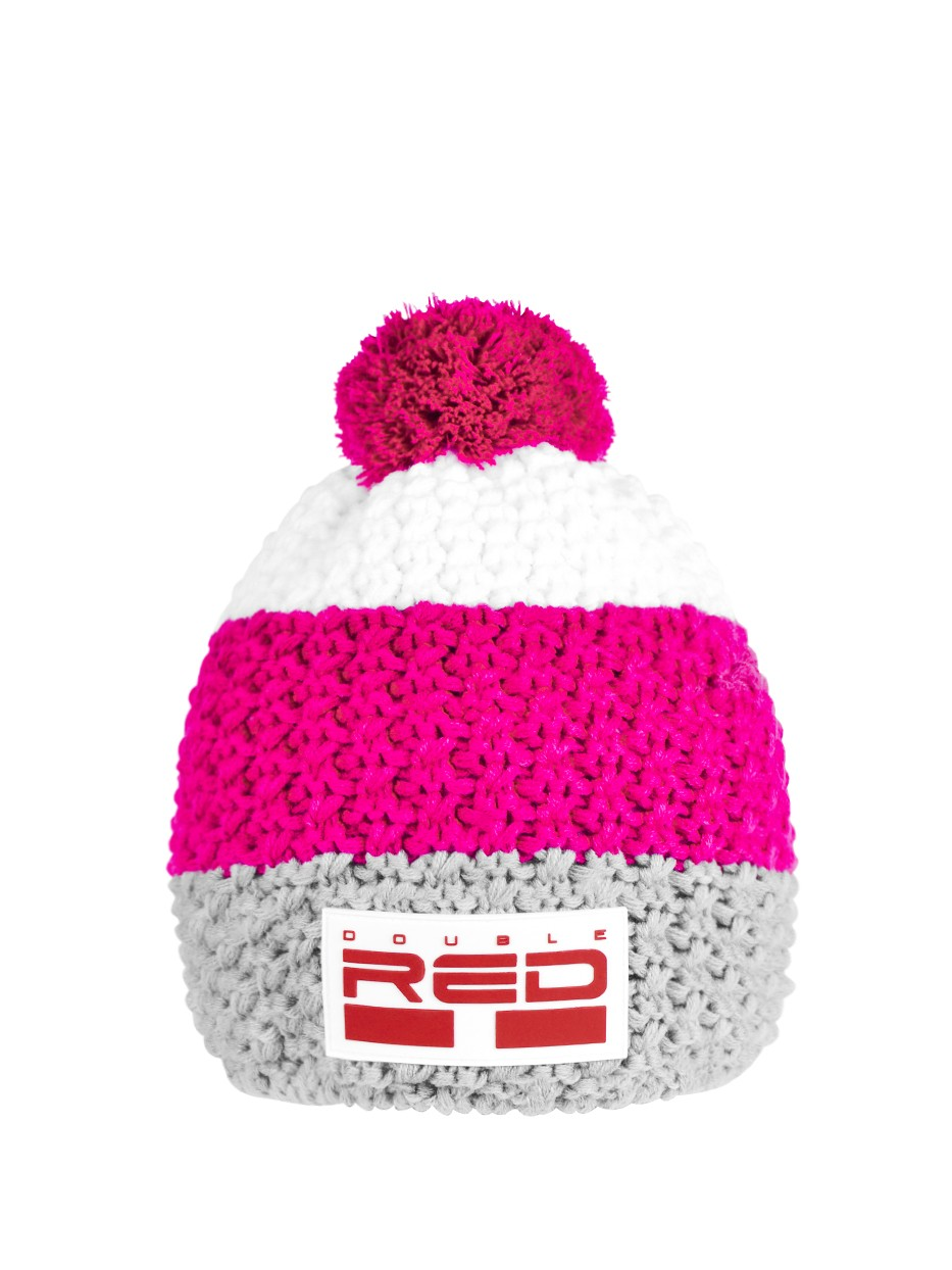 Double Red kulich COURCHEVEL Cap Grey/Pink/White