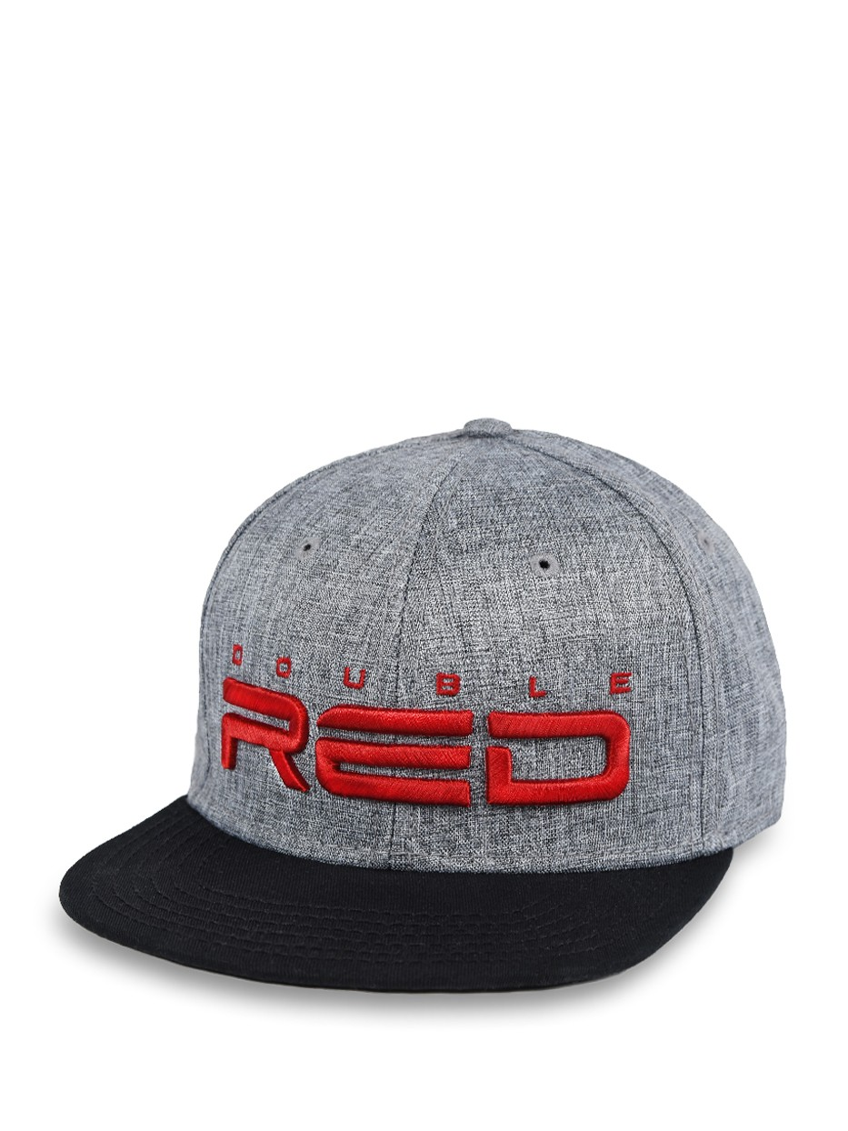 Double Red STREETHERO Snapback Melange 3D Embroidery Grey/Black