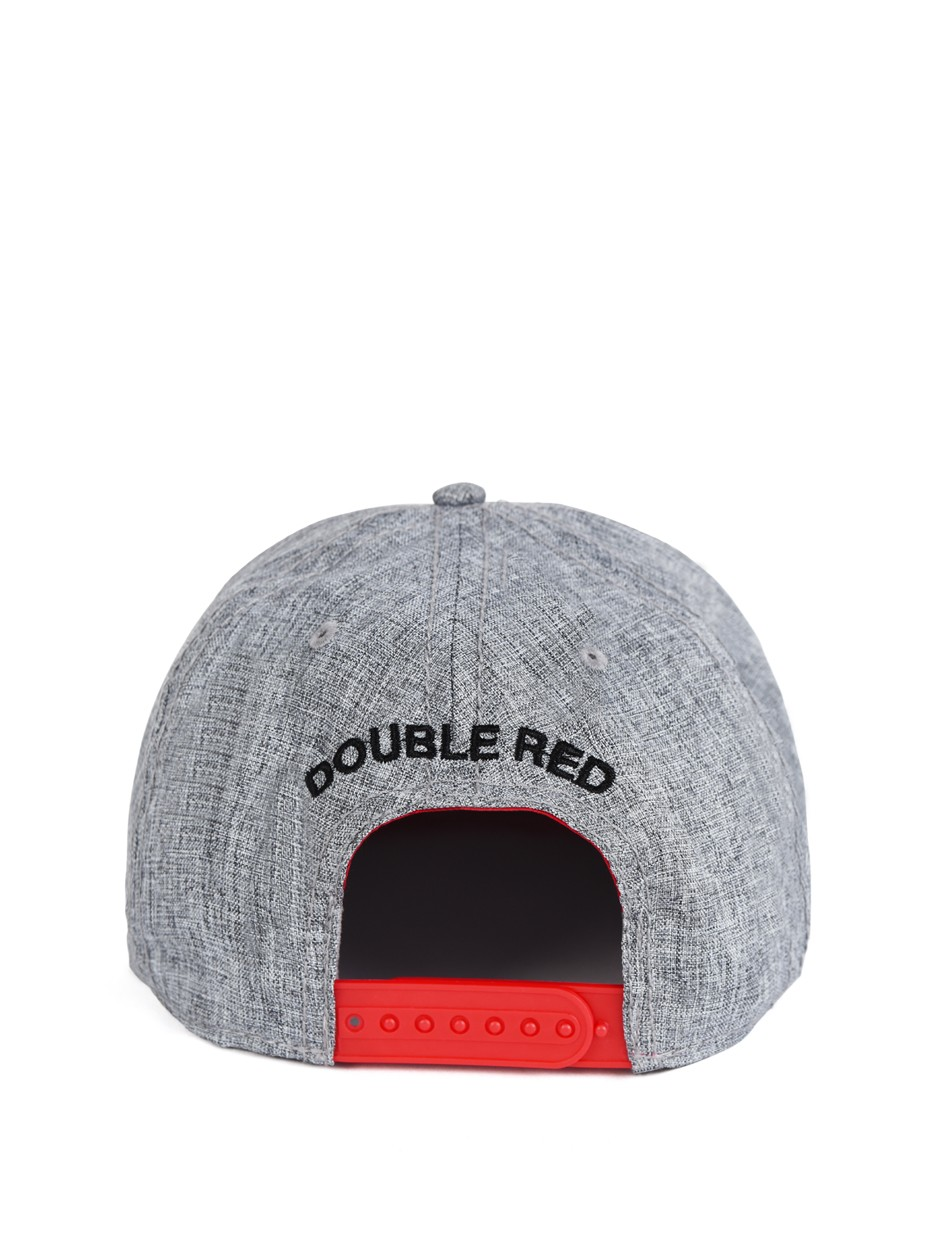 Double Red STREETHERO Snapback Melange 3D Embroidery Grey/Red