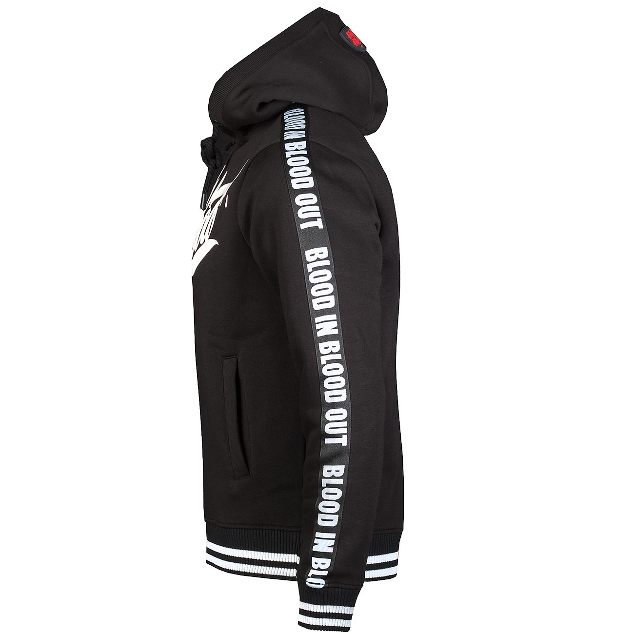 Blood in Blood mikina Black Logo Stripe Hoodie