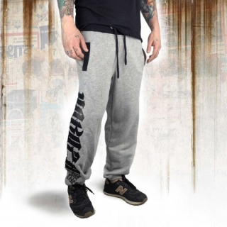 Yakuza tepláky JOB 12052 Light Grey Melange - 3XL
