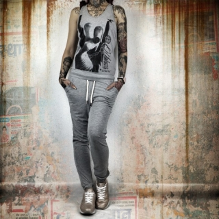 Yakuza overal ROCKER JUMPSUIT GJUB 9132 Light Grey