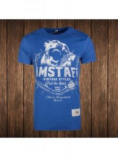 Amstaff tričko VINTAGE Neres SLIM Blue  ec688dbf2d