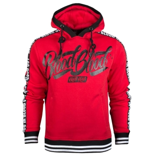 Blood in Blood mikina Red Logo Stripe Hoodie