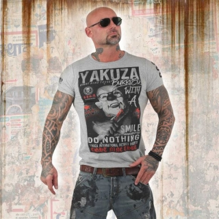 Yakuza tričko TSB 13031 Light Grey