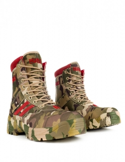 Double Red boty Multicam Red