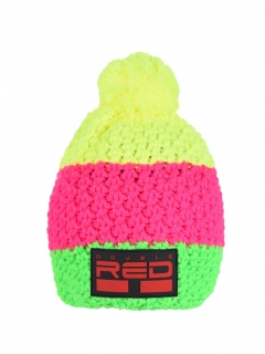 Double Red kulich COURCHEVEL Cap Green/Pink/Yellow NEON