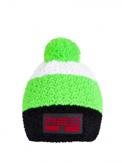 Double Red kulich COURCHEVEL Cap Black/Green/White