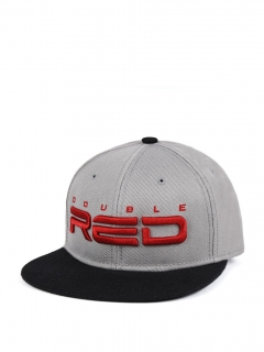 Double Red STREETHERO Snapback 3D Embroidery Black/White Coffee