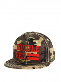 Double Red Snapback Cap UNIVERSITY OF RED Green Camo