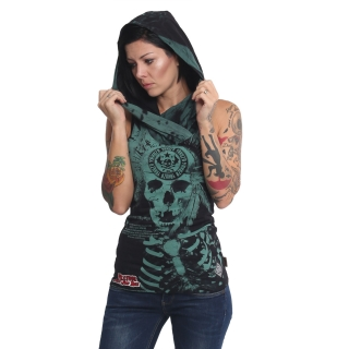 Yakuza tílko INDIAN SKULL GSB 610 Black