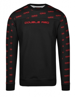 Double Red mikina UTTER FULL LOGO Black