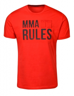 Double Red tričko MMA RULES Red