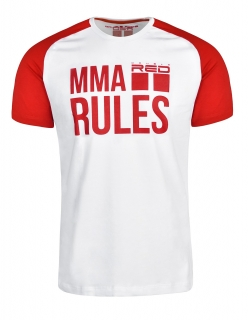 Double Red tričko MMA RULES Red/White