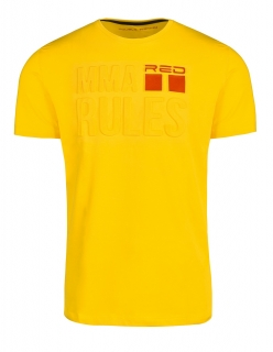 Double Red tričko MMA RULES Yellow