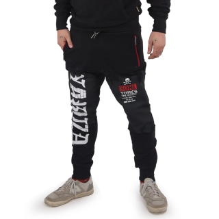Yakuza tepláky BRICKS JOB 15042 Black/Red