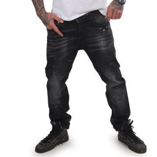 Yakuza jeansy DESTROYER JEB 15044 Black