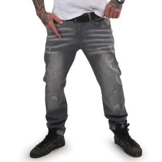 Yakuza jeansy DESTROYER JEB 15044 Grey